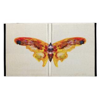 Caja púrpura y amarilla del vintage de la mariposa