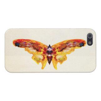 Caja púrpura y amarilla del vintage de la mariposa iPhone 5 carcasa