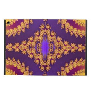 Caja púrpura y anaranjada del aire del iPad del di