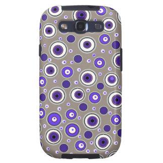 Caja púrpura y beige fresca de la galaxia de Samsu Galaxy S3 Protectores