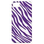 Caja púrpura y blanca del iPhone 5 de la raya de l iPhone 5 Case-Mate Cárcasa