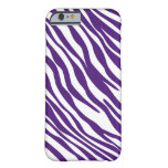 Caja púrpura y blanca del iPhone 6 de la raya de