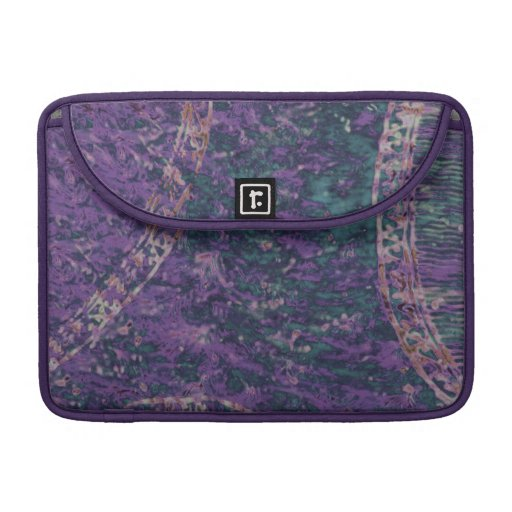 Caja púrpura y esmeralda de la manga de MacBook Pr Fundas Macbook Pro