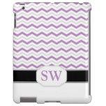 Caja púrpura y gris del iPad 2/3/4 del monograma d