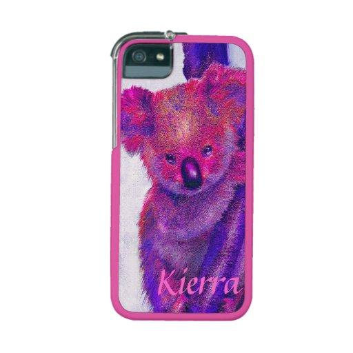 caja púrpura y rosada del iphone 5S de la koala