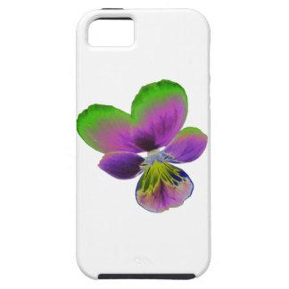 Caja púrpura y verde del iPhone 5 del pensamiento iPhone 5 Case-Mate Coberturas