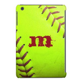 Caja rápida amarilla del monograma IPAD del Fundas De iPad Mini