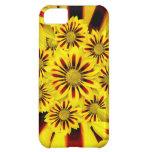 Caja rayada amarilla y roja del iPhone 5 de la mar