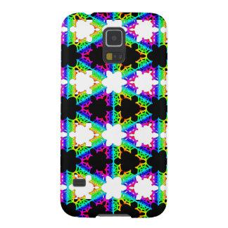 Caja rayada arco iris de la galaxia de Samsung del Funda De Galaxy S5