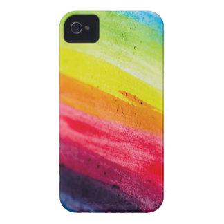 Caja rayada arco iris pintada iPhone 4 cobertura