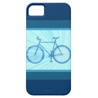 Caja rayada azul del iPhone 5 de la bicicleta de l iPhone 5 Carcasa