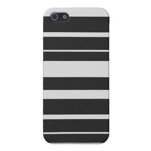 Caja rayada blanco y negro del iPhone 4 iPhone 5 Coberturas