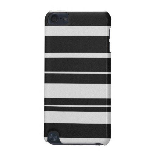 Caja rayada blanco y negro del tacto de iPod