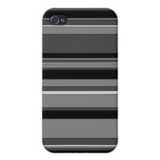 Caja rayada ceniza ahumada del iPhone 4 iPhone 4 Cárcasas