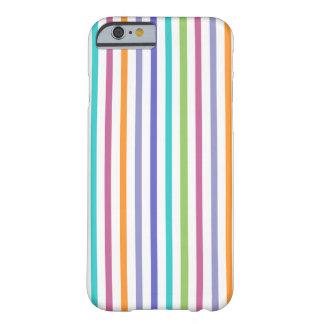 Caja rayada color moderno del iPhone 6 Funda Para iPhone 6 Barely There