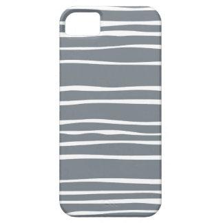 Caja rayada enrrollada gris del iPhone 5/5S Funda Para iPhone 5 Barely There