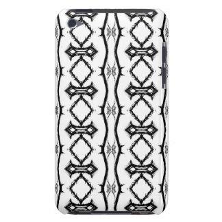Caja rayada geométrica blanco y negro del tacto de iPod touch cárcasa