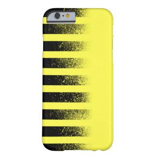 Caja rayada negra y amarilla de Iphone 6 Funda Barely There iPhone 6