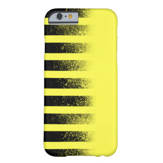 Caja rayada negra y amarilla de Iphone 6 Funda Para iPhone 6 Barely There