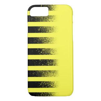 Caja rayada negra y amarilla del iPhone 7 Funda iPhone 7