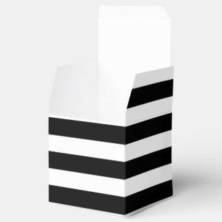 Caja rayada negra y blanca adaptable del favor caja para regalos de fiestas