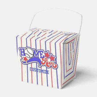 Caja rayada roja del béisbol blanco y azul del cajas para regalos de fiestas