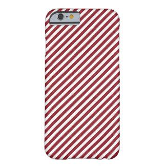 Caja rayada roja y blanca del iPhone 6 Funda De iPhone 6 Barely There