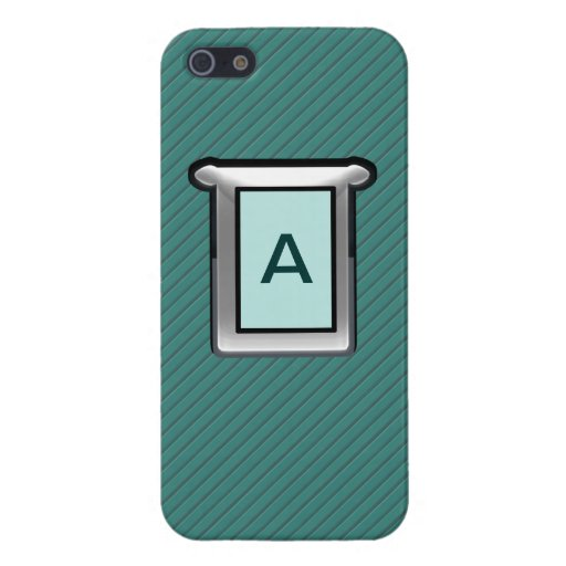 Caja rayada verde de Iphone 5 de la plata y del ja iPhone 5 Carcasa