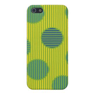 Caja rayada verde del iPhone iPhone 5 Carcasa