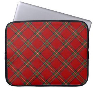 Caja real del ordenador portátil del tartán de fundas ordendadores