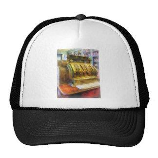Caja registradora en farmacia gorras