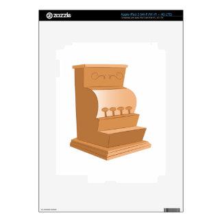 Caja registradora pegatina skin para iPad 3