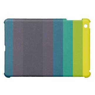 Caja retra amarilla azul de la cubierta del iPad d