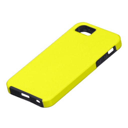 Caja retra amarilla soleada del iPhone de Fluoro iPhone 5 Funda