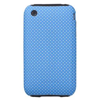 Caja retra blanca azul del iphone 3g de los puntos iPhone 3 tough carcasa