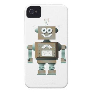 Caja retra de Blackberry del robot del juguete (lt Case-Mate iPhone 4 Protectores