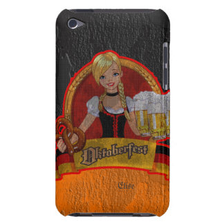 Caja retra de iPod del chica de Oktoberfest Waitre iPod Case-Mate Protectores