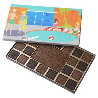 Caja retra de la fiesta en la piscina de caja de bombones variados con 45 piezas
