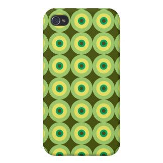Caja retra de la mota de los círculos iPhone 4 carcasas