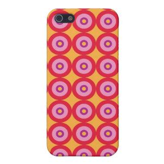 Caja retra de la mota de los círculos iPhone 5 cárcasas