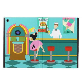 Caja retra del aire del iPad de la fuente de soda
