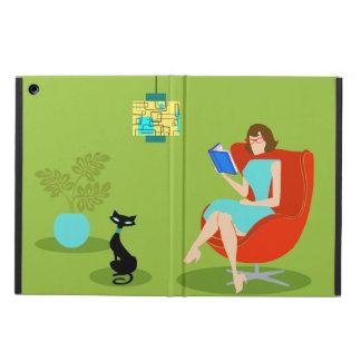 Caja retra del aire del iPad de la mujer de la