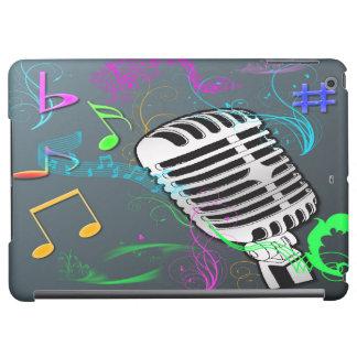 Caja retra del aire del iPad de la música