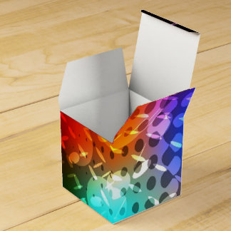 Caja retra del favor del cubo de la bola de cajas para regalos de boda