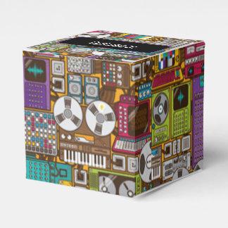 Caja retra del favor del cubo del estudio de cajas para regalos de fiestas
