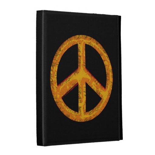caja retra del folio del iPad del arte del signo d