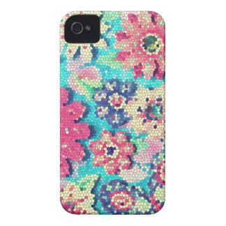 caja retra del mosaico de la flor de iphone4-4s iPhone 4 coberturas