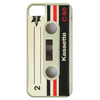 caja retra geeky del casete iphone5 del vintage de iPhone 5 Case-Mate cárcasas