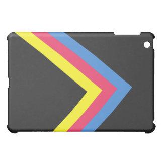 Caja retra negra de la cubierta del iPad del arte