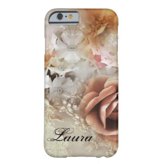 Caja retra romántica del teléfono del estilo funda barely there iPhone 6